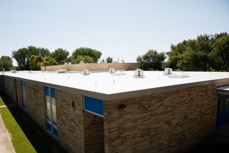 Flat Commercial Roof with Duro-Last Product