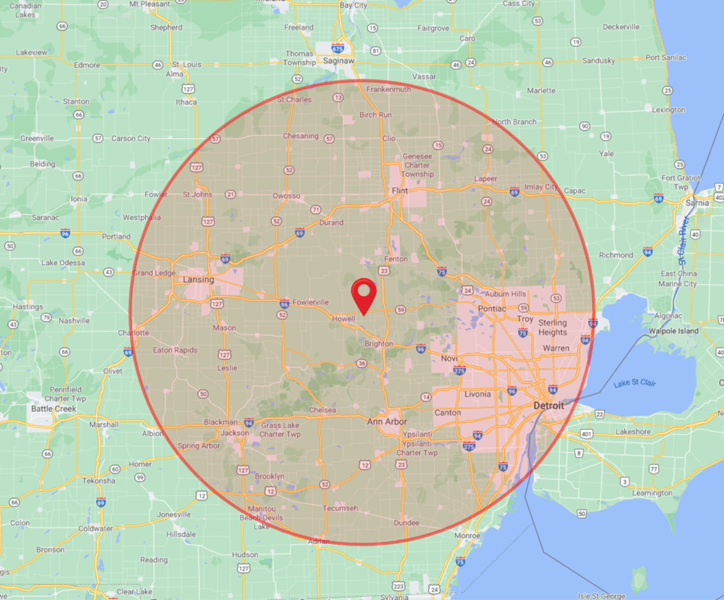Commercial Roofing Service Area Coverage Southeastern Michigan